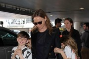 Stella McCartney and family seen at LAX