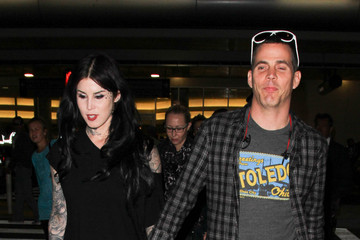 Steve-O Kat Von D and Steve O Are Seen at LAX