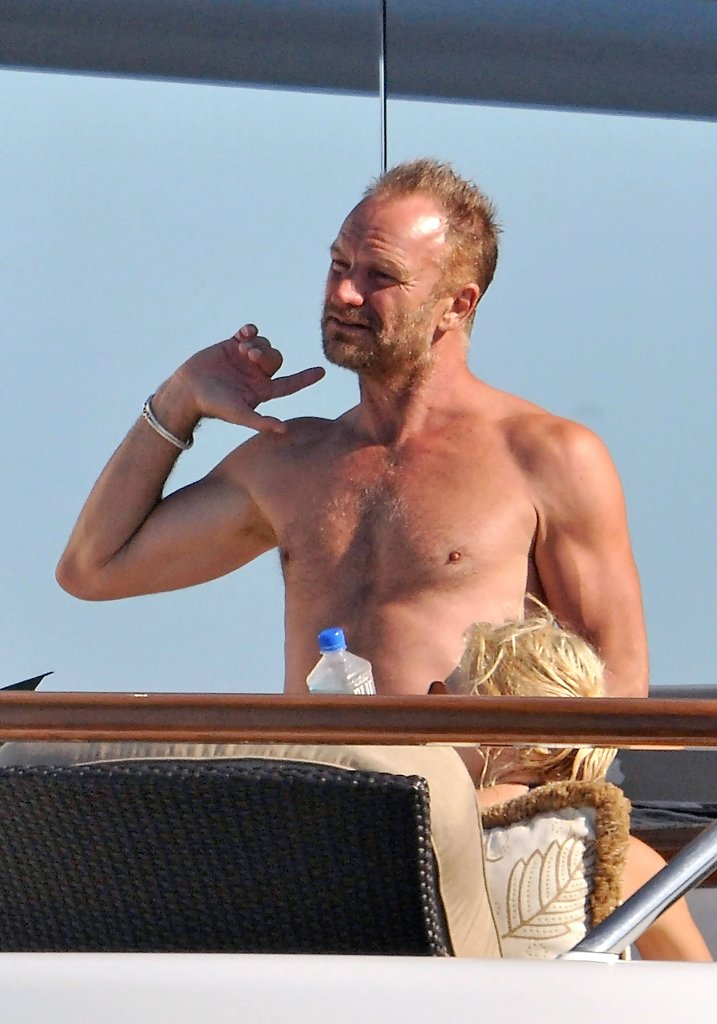 Sting In Sting Goes Windsurfing Zimbio