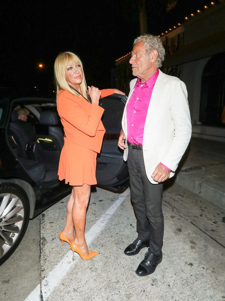 Suzanne Somers And Alan Hamel Outside Craig's Restaurant In West Hollywood