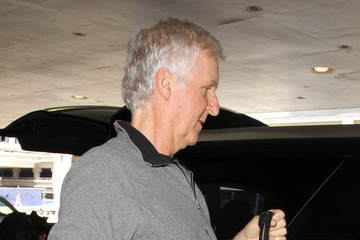 Suzy Amis Cameron James Cameron and Suzy Amis Cameron Are Seen at LAX