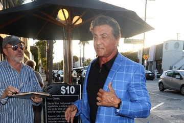 Sylvester Stallone Celebrities Dine Out at Craig's