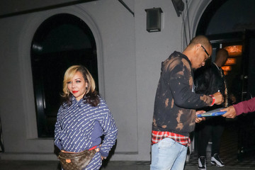 T.I. Tameka Cottle Outside Craig's Restaurant In West Hollywood