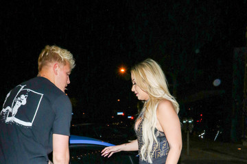 Tana Mongeau Jake Paul Outside Craig's Restaurant In West Hollywood