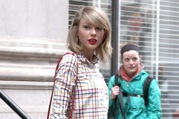 Taylor Swift Taylor Swift Rocks Plaid in NYC