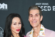 Perry Farrell and Etty Lau Farrell are seen attending Teton Gravity Research's 'Andy Iron's Kissed By God' World Premiere at Regency Village Theatre in Los Angeles, California.