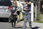 Fergie Spends the Day with Family