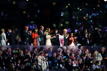 The Duke of Cambridge Confetti storm during Paralympic opening ceremonies