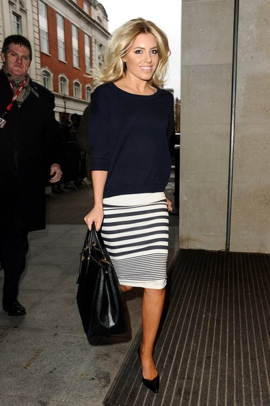 16th March, 2013:  Mollie King of The Saturdays arriving at Radio 1 today.