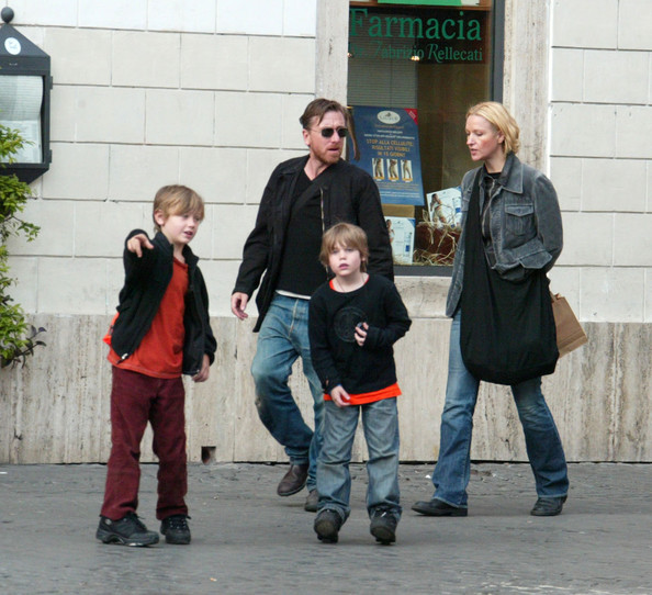 Photo of Tim Roth & his  Son  Timothy Hunter Roth
