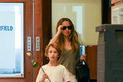 Tobey Maguire and Jennifer Meyer are seen with their kids in Los Angeles, California on Dec. 9, 2017.