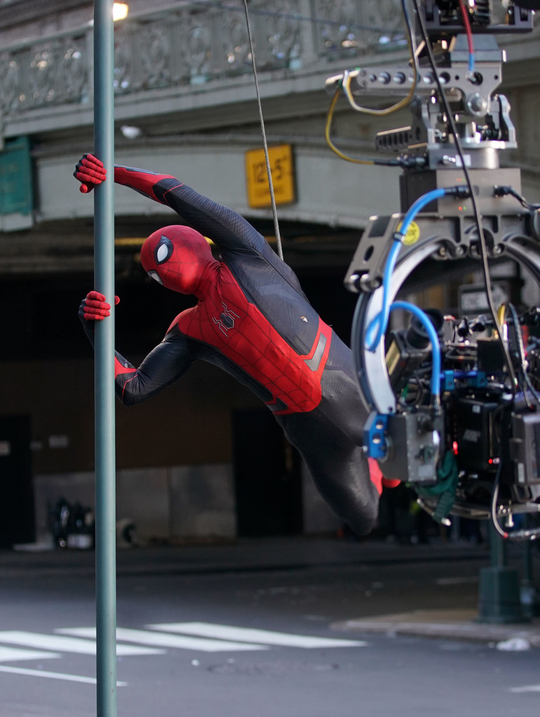 tom holland and zendaya film 39 spider man far from home 39 in nyc 11 of 15 zimbio. Black Bedroom Furniture Sets. Home Design Ideas