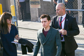 Tom Holland Tom Holland at 'Jimmy Kimmel Live'