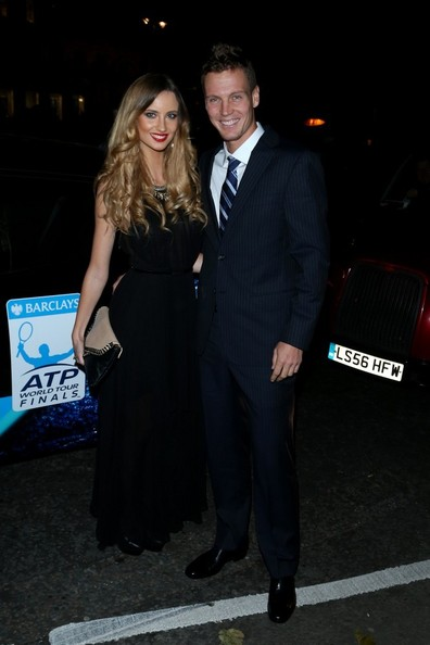Tomas Berdych - Tomas Berdych and Ester Satorova at the Barclays ATP Gala