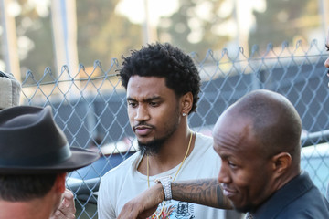 Trey Songz Trey Songz Is Seen at the 'Jimmy Kimmel Live' Studios