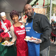 Trina McGee Christmas Meal for the Homeless at LA Mission
