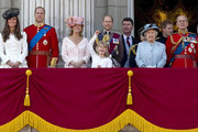 Trooping the Colour - the Queen's official birthday procession at Buckingham Palace.
