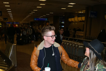 Tyler Oakley Celebrities at the Salt Lake City Airport