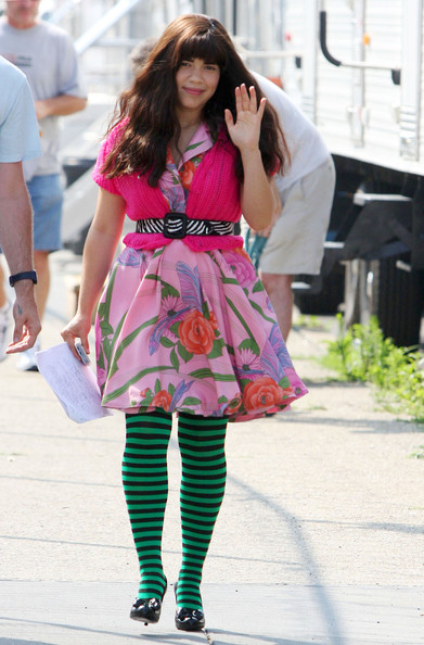 America Ferrera Ugly Betty started filming its third season under the Brooklyn Bridge. America Ferrera was the main cast member shooting scenes with motorcycles and some ladies wearing skimpy outfits. Becki Newton and Patricia Fields were also spotted on set.
