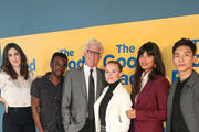 D'Arcy Carden, William Jackson Harper, Ted Danson, Kristen Bell, Jameela Jamil and Manny Jacinto are seen attending the FYC screening of Universal Television's 'The Good Place' at UCB Sunset Theater in Los Angeles, California.