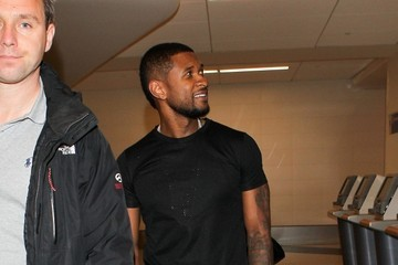 Usher Usher Arrives at LAX