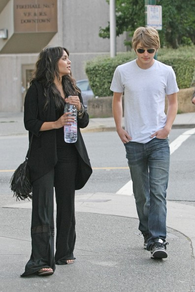 Sterling Knight Vanessa Hudgens clutching her Evian water and Sterling