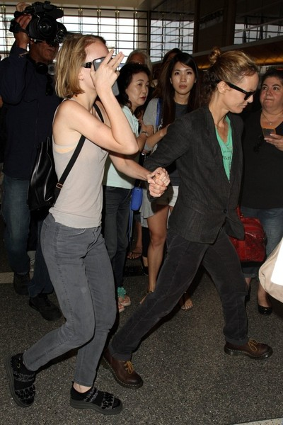 Vanessa Paradis and Daughter Lily-Rose Depp at LAX