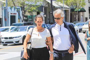 Veronica Berti Andrea Bocelli And Veronica Berti Step Out In Beverly Hills