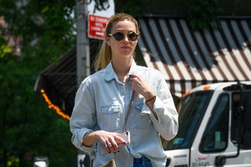 Whitney Port Whitney Port Goes Out in Distressed Denim