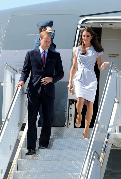 Prince William and Kate Middleton at LAX