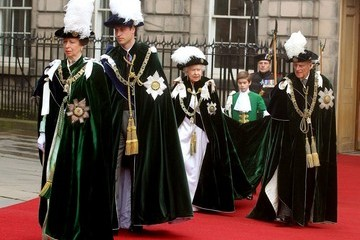 Queen Elizabeth II Princess Anne The Royals at the Thistle Service