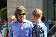 William H. Macy Hangs Out with His Daughter