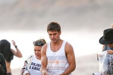 Zac Efron Zac Efron Films on the Beach