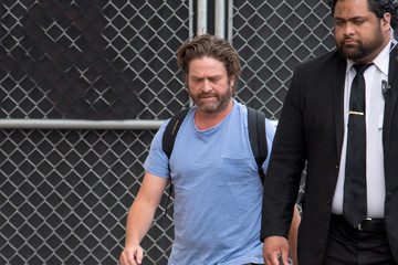 Zach Galifianakis Zach Galifianakis Arrives at the 'Jimmy Kimmel Live' Studios