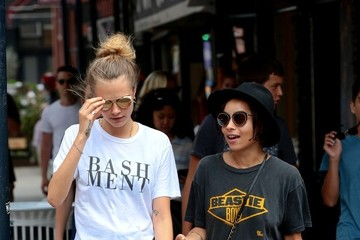 Zoe Kravitz Cara Delevingne and Zoe Kravitz Take a Stroll