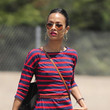 Zoe Saldana and Emmy Rossum in Beverly Hills