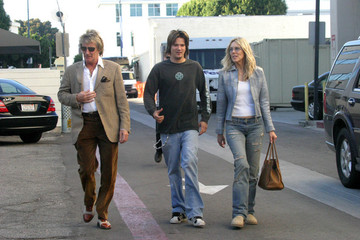 Rod Stewart Rod and Alana Stewart With Son Sean