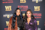 Angela Simmons and Vanessa Simmons are seen attending WE tv Celebrates The Premiere of Marriage Boot Camp: Hip Hop Edition and Growing Up Hip Hop at Nightingale in Los Angeles, California.