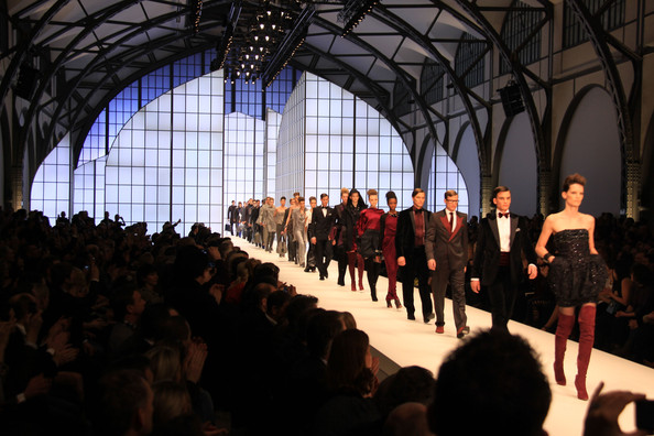 Celebrities attend the Hugo Boss Fashion Show during the 2010 Mercedes Benz Berlin Fashion Week.