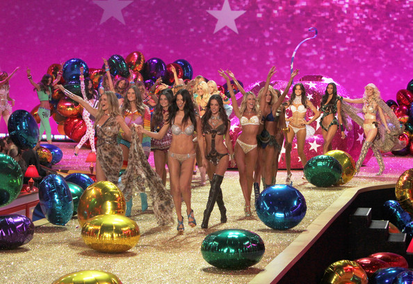 Models walk the runway at the 2010 Victoria's Secret Fashion Show at the Lexington Armory in New York City.