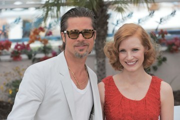 """Brad Pitt Jessica Chastain 64th Annual Cannes Film Festival - """"The Tree Of Life"""" Photo Call 3"""