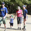 Abel Arnett Amy Poehler Takes Her Sons To A Softball Game
