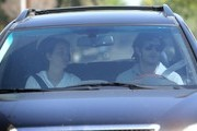 New couple Adam Brody and Leighton Meester leaving Leighton's house after spending the night together in Beverly Hills, California on March 16, 2013.