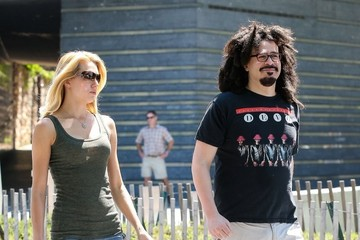 Adam Duritz Adam Duritz And Female Friend Head To The Ferry