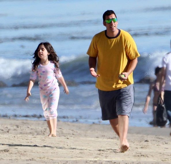 Adam sandler and sadie sandler adam sandler takes his family to the