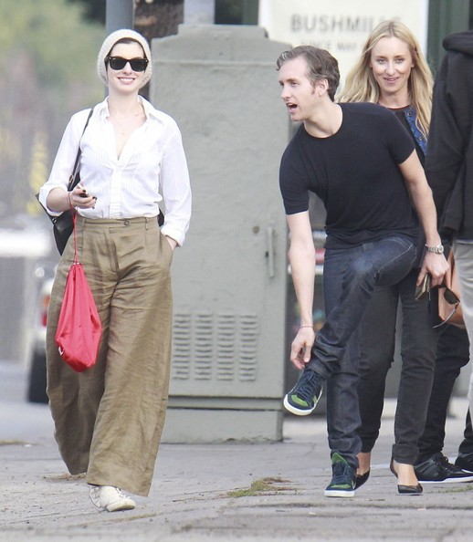Anne Hathaway & Adam Shulman Out