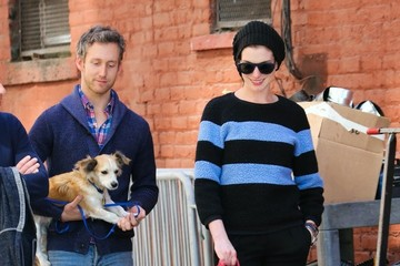 Adam Shulman Anne Hathaway & Adam Shulman Out And About In NYC