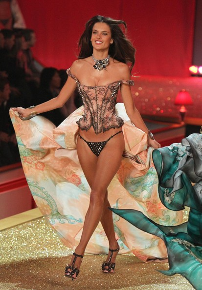 Adriana Lima Models walk the runway at the 2010 Victoria's Secret Fashion Show at the Lexington Armory in New York City.