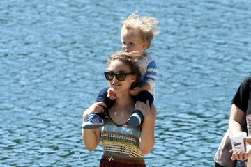 Aleph Portman-Millepied Natalie Portman Takes Her Son to the Park