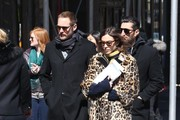 Alexa Chung & Alexander Skarsgard Out And About In NYC